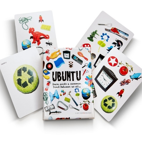Ubuntu Cards - Ubuntu Cards are are a multi-functional deck of cards (54 cards total) that encourage a group to interact, find connections and have fun.