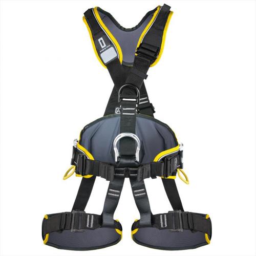 SINGING ROCK PROFI WORKER 3D HARNESS - Fully adjustable fall-arrest harness with padded waist belt, leg loops, and shoulder straps.