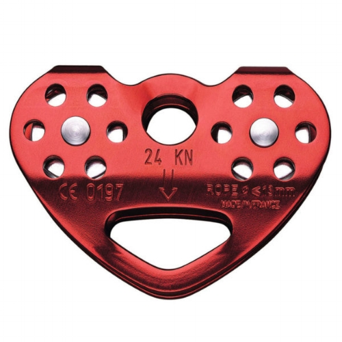 Petzl Tandem Double Pulley - Rope - The TANDEM is designed for smooth and efficient Tyrolean traverses on rope.