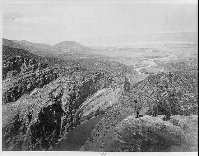 After we move around the dam at Flaming Gorge National Recreation Area, we'll float through what is known as Browns Park pictured here in 1872. There was no photographer on the 1869 expedition, but for the second journey in 1871-72, Timothy H. O'Sullivan was on the expedition and took many photos of the Colorado River Basin. . . . . . #scree #powell150 #brownspark #coloradoriverbasin #greenriver #camp4pix #ourwild