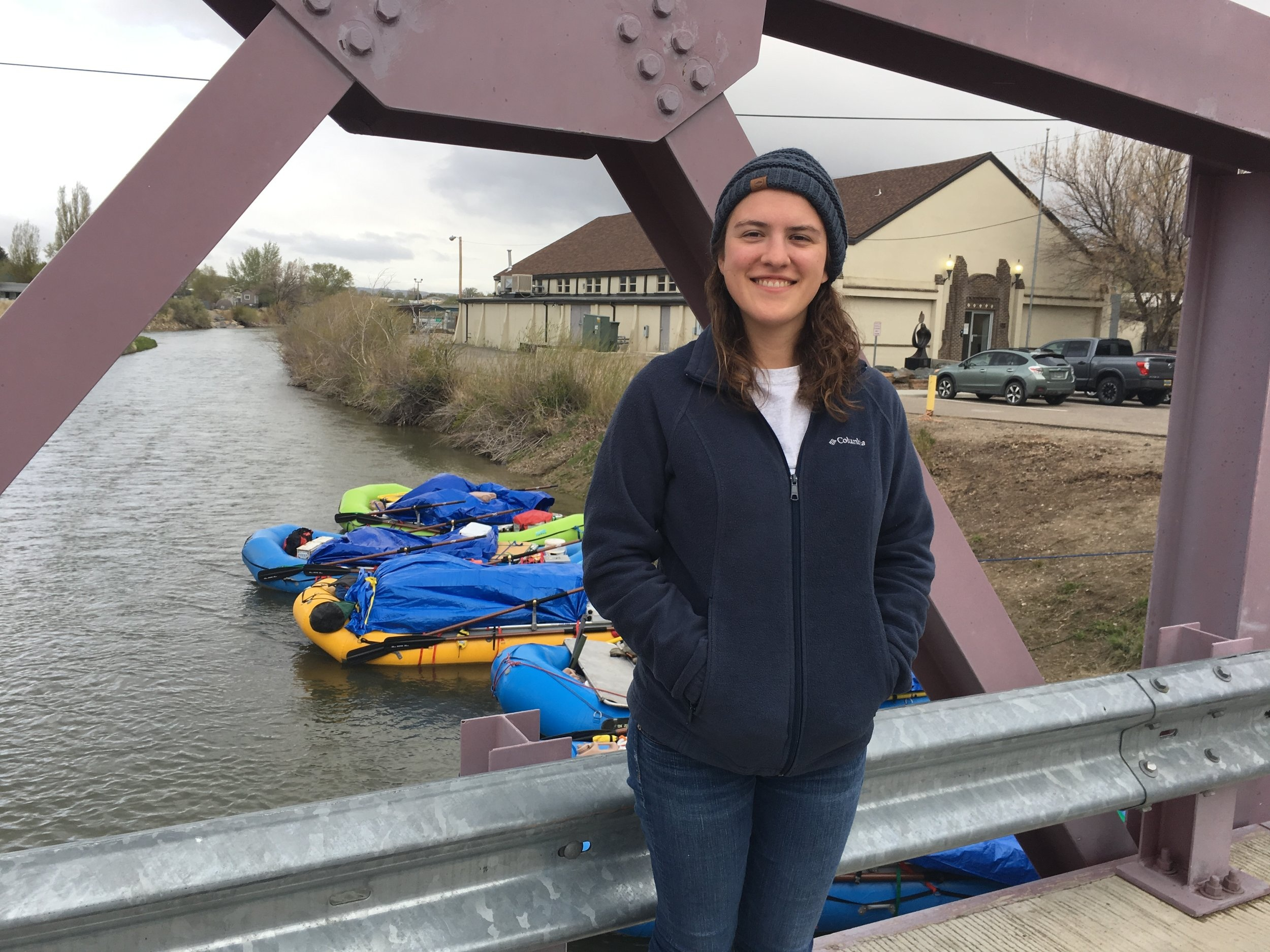 Janis LeMaster over the Green River near Expedition Island, May 23, 2019