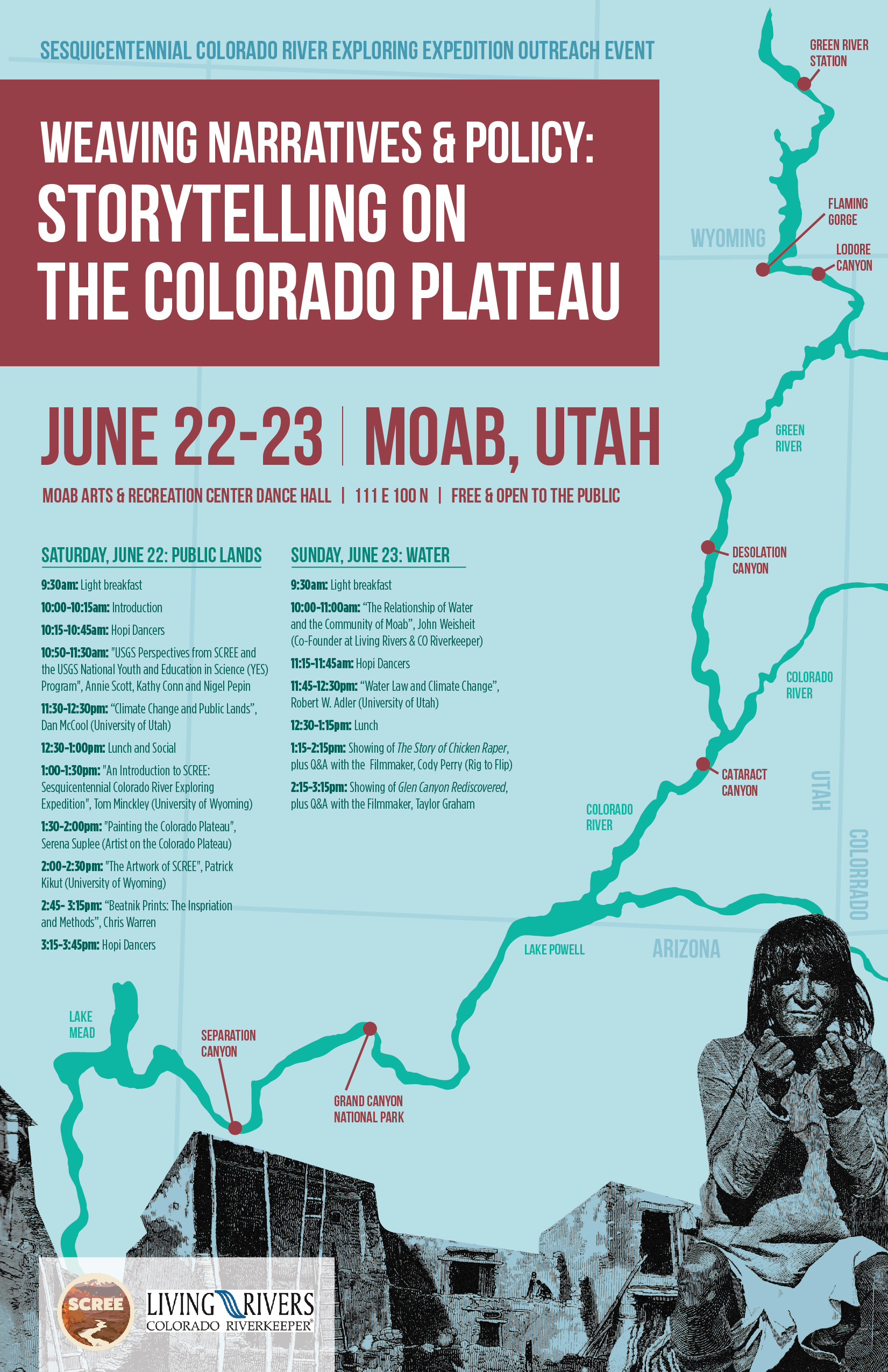 """""""   River expedition stops in Moab to talk about public lands, water issues   """"  authored by Sharon Sullivan for Moab Sun News, June 20, 2019"""