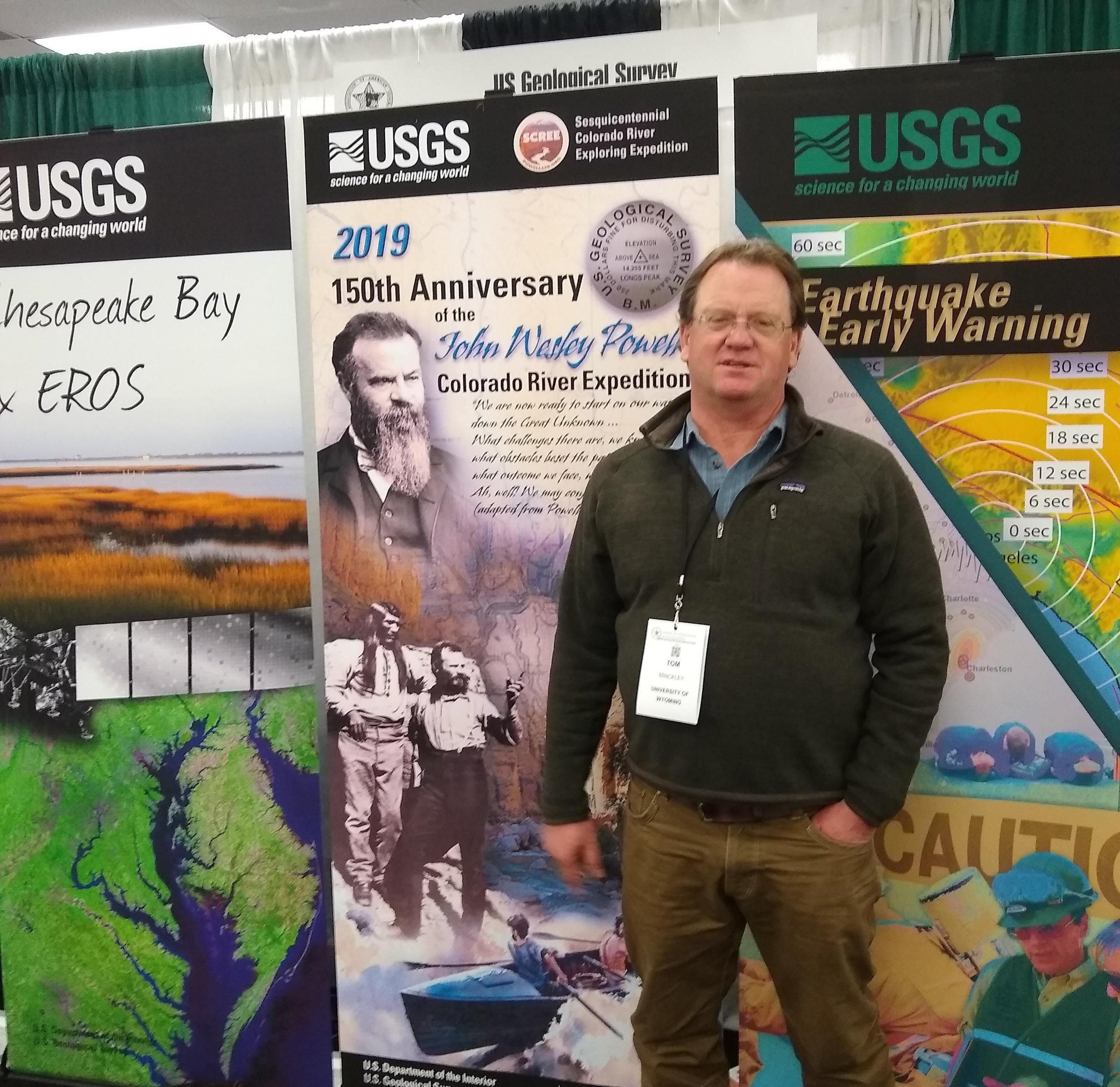 John Wesley Powell and his legacy on American geography and future in the arid West    at American Association of Geographer's 2019 Meeting in Washington D.C., April 5, 2019.  Members of SCREE, Tom Minckley, Jason Robison and William Gribb all contributed remarks during the conference session.