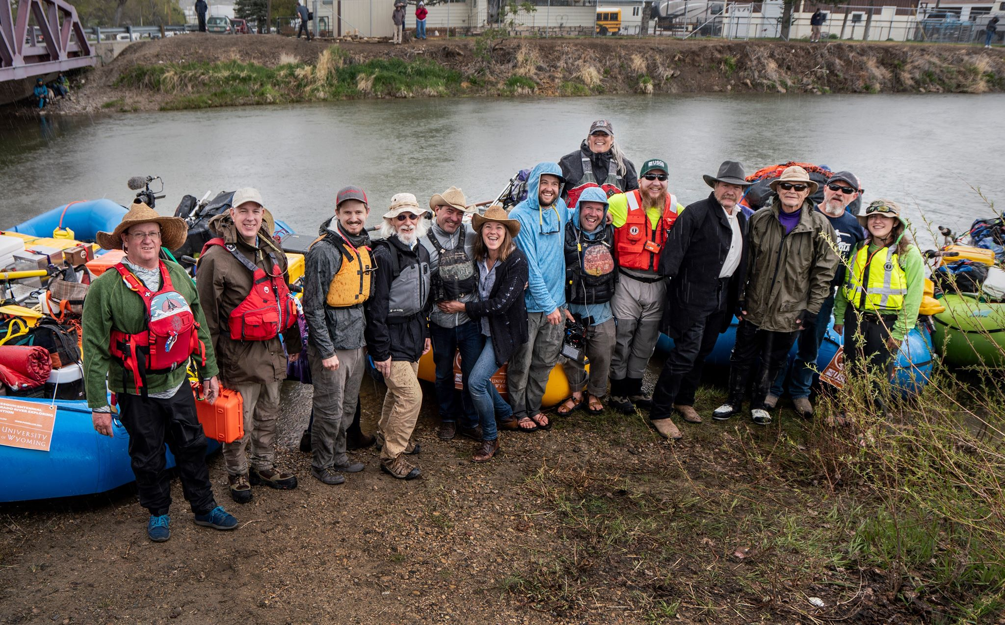 """""""   Thousand-mile river expedition launched in Green River on Friday   """" , May 28, 2019 article in The Rocket Miner. (Photo by Mike Vanata)"""