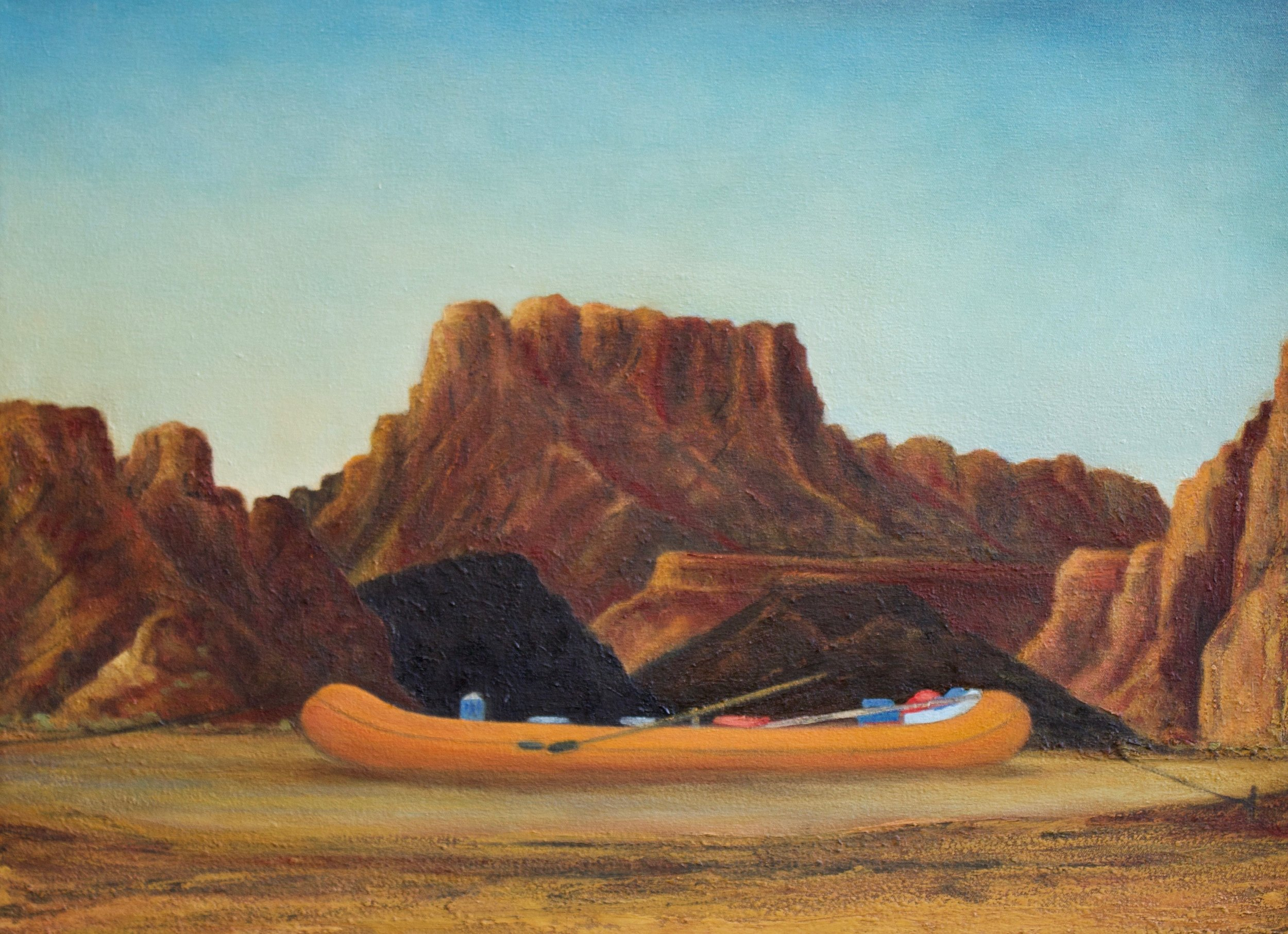 """""""   The City of Green River and John Wesley Powell River History Museum will Open a New River Trail   """"  by Castle Country Radio, March 11, 2019. (Painting by Patrick Kikut)"""