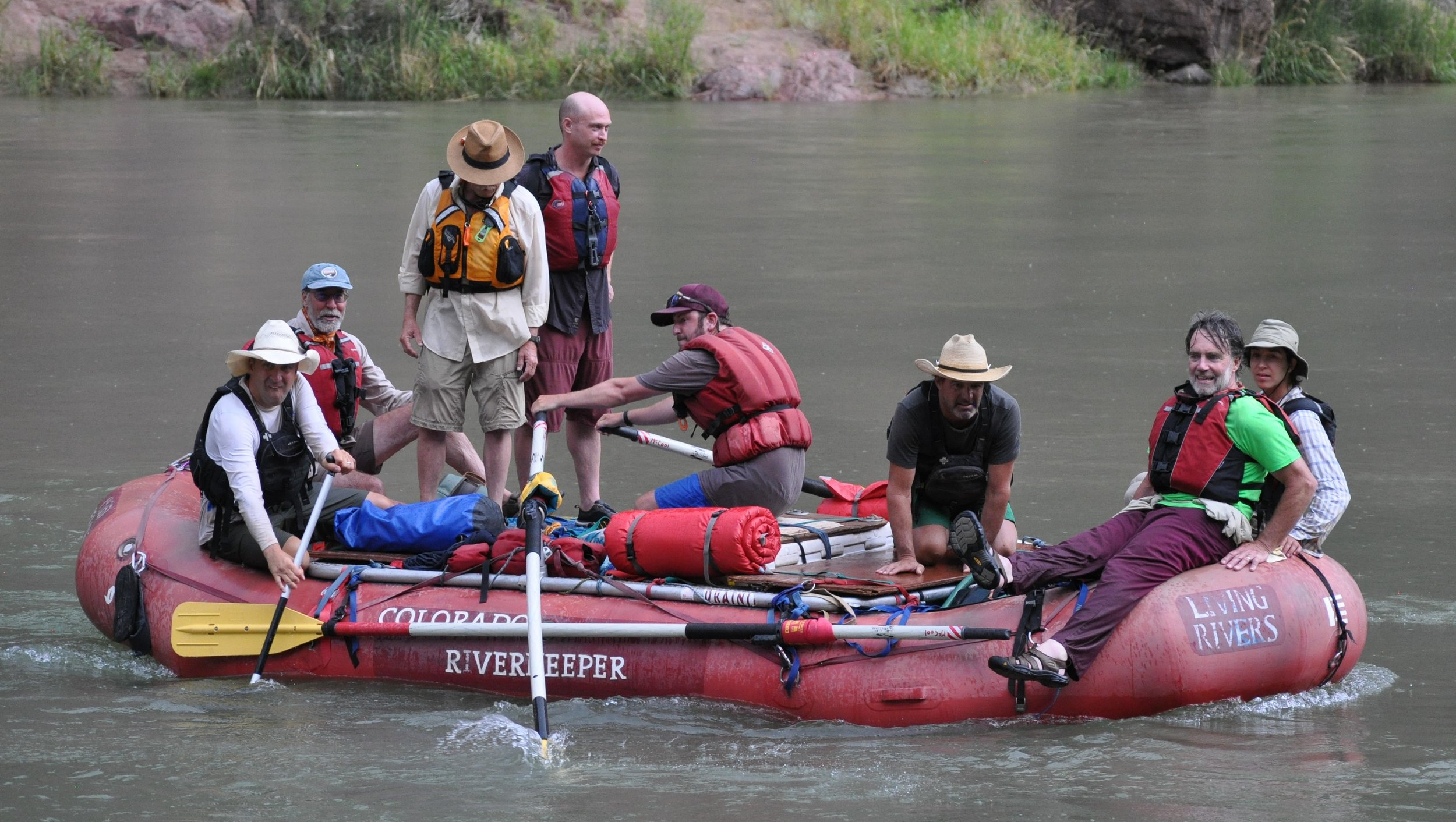 """""""   Colorado Riverkeeper and Affiliates Play Key Role in John Wesley Powell 150th Anniversary River Expedition   """"  authored by Rica Fulton for Waterkeeper Alliance, Feb.26, 2019."""