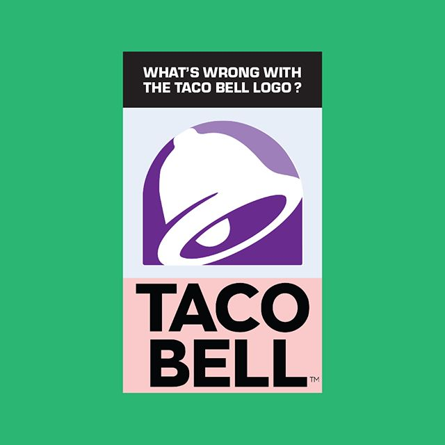 "Make sure you check out the full post at: jonfitzsimmons.com/blog . . . Here's a brief summary of the first post: What's wrong with the taco bell logo?  Why did they choose to go with a new look? According to the powerhouse brand agency, Lippincot, they wanted to create a modern identity that reflected their ever-changing and innovative menu as well as appealing to millennial who are demanding more and more from their favourite fast food restaurants. To announce these changes and show off the new look, Taco Bell also launched a new restaurant in Las Vegas — Taco Bell Cantina — a sit down restaurant that serves appetizers, beer, and booze infused slushies.  What does the new identity do well? It's simplified (almost too simple) and is flexible enough to be applied to a variety of visual treatments. Check out a few of the patterns and effects that have been applied to the new logo.  So what's this design lacking and where does it fall short? The number one thing I'm missing is the appetizing colour psychology found in the old logo. With it's featured reds, yellows, greens, and distinct ground beef brown, it did a wonderful job of representing the look and feel of Taco Bell's food.  The bell symbol was simplified in order for it to be easily manipulated and applied with patterns, gooey cheeses, and other creative little brand elements that we've seen released on their packaging. While I think this works with the minimalistic trend, others have issues with the symbol's new look. Bill Gardner (Gardner Design) said on the Logo Geek podcast, ""it looks prophylactic…"" meaning, ""intended to prevent disease,"" meaning, yeah, it looks like a condom.  Lastly, the sans-serif type in the logo (Akzidenz-Grotesk? AKA Helvetica) now places Taco Bell among the thousands of other company's re-branding themselves to have the same, boring look. The brand deserves points for keeping their symbol, unlike the majority of other companies who've been taken in by this trend, however, I would have liked to see them go in a different direction with their type or even re-design the 70s style type they used in one of their old logos.  Read more over on my website!"
