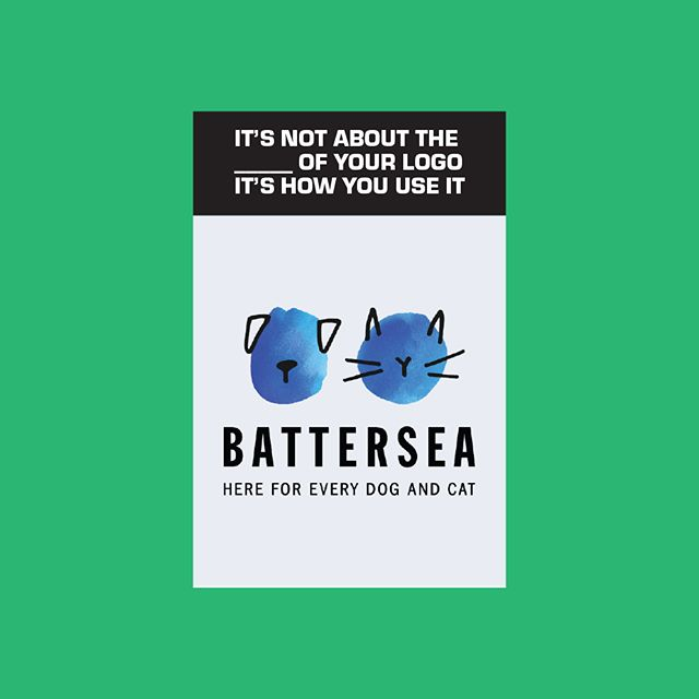 Make sure you check out the full post at: jonfitzsimmons.com/blog . . . This is the logo for Battersea, an animal shelter in England who takes in dogs and cats of any age or health condition with no exceptions. The re-brand was done by world-renowned branding agency, Pentagram (specifically partner Marina Willer). At first glance, this looks like a stroke of watercolour with poorly hand drawn facial features of dogs and cats slapped on top of it. When you take some time to dive into the details, you'll notice each blue brush stroke has been carefully cut out into a specific abstract shape and the hand drawn ears and noses fit comfortably into each groove, nook, or cranny. Again, this is not your typical bold, thick lined, and minimally designed logo we're used to seeing, so let's see how they used it.  As a responsible adult, I do not currently own any pets, but as an irresponsible spending millenial, I'll take 3 of those dog tags, a mug, and a t-shirt. Without knowing who this company is, the logo communicates a friendly, fun, and cute brand personality. The significance of what is seen by customers, non-designers, and people outside of the company is the most important factor in determining the real success of the logo. We can gawk over the intricate details and nuanced visual tricks, but at the end of the day, if the target audience doesn't get the right message, it's a failure.  They've established their brand colours, their brand voice, and brand elements and applied them to just about every promotional piece, social media post, and physical item that they produce. The blue watercolour brush stroke is used wonderfully as a background element for text on a banner from a recent fundraising event. Their type choice of Franklin Gothic is used in combination with high quality, simple photography to create captivating print ads.  While I may be heavily focused on this one specific example, there are plenty of other incredible complete and creative visual identity systems out there.