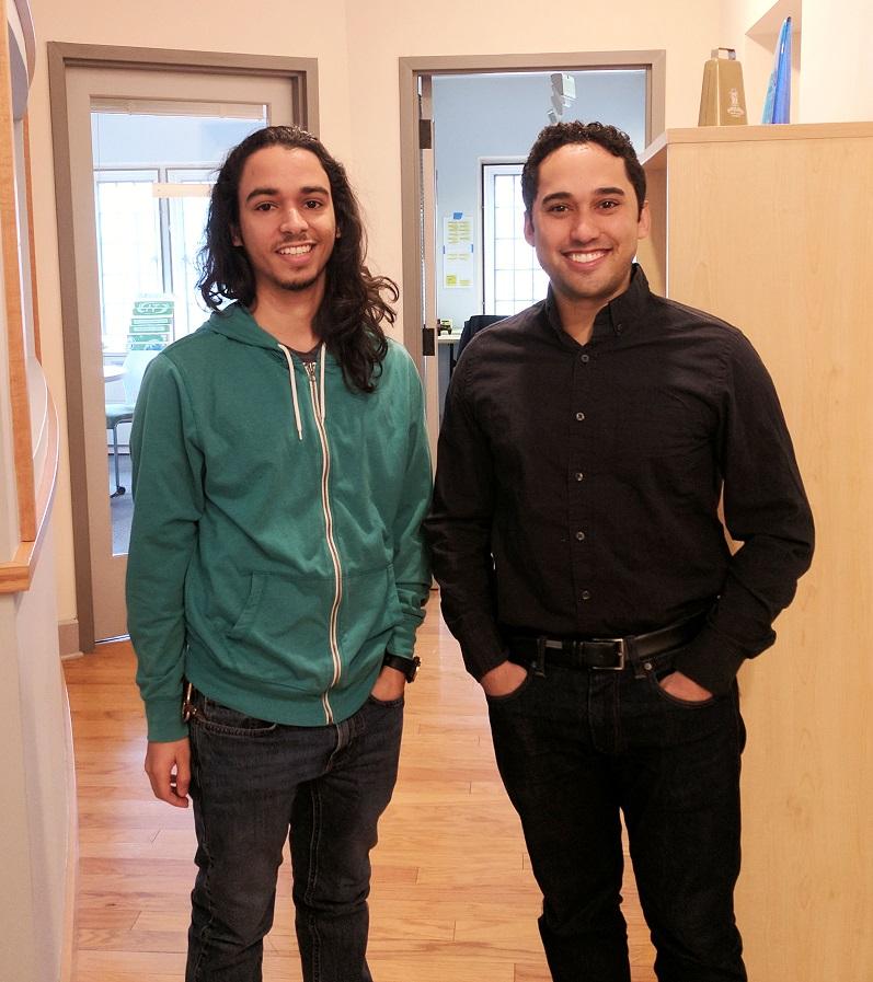 Yale PhD candidates Michael Lopez-Brau (l) and Stefan Uddenberg.