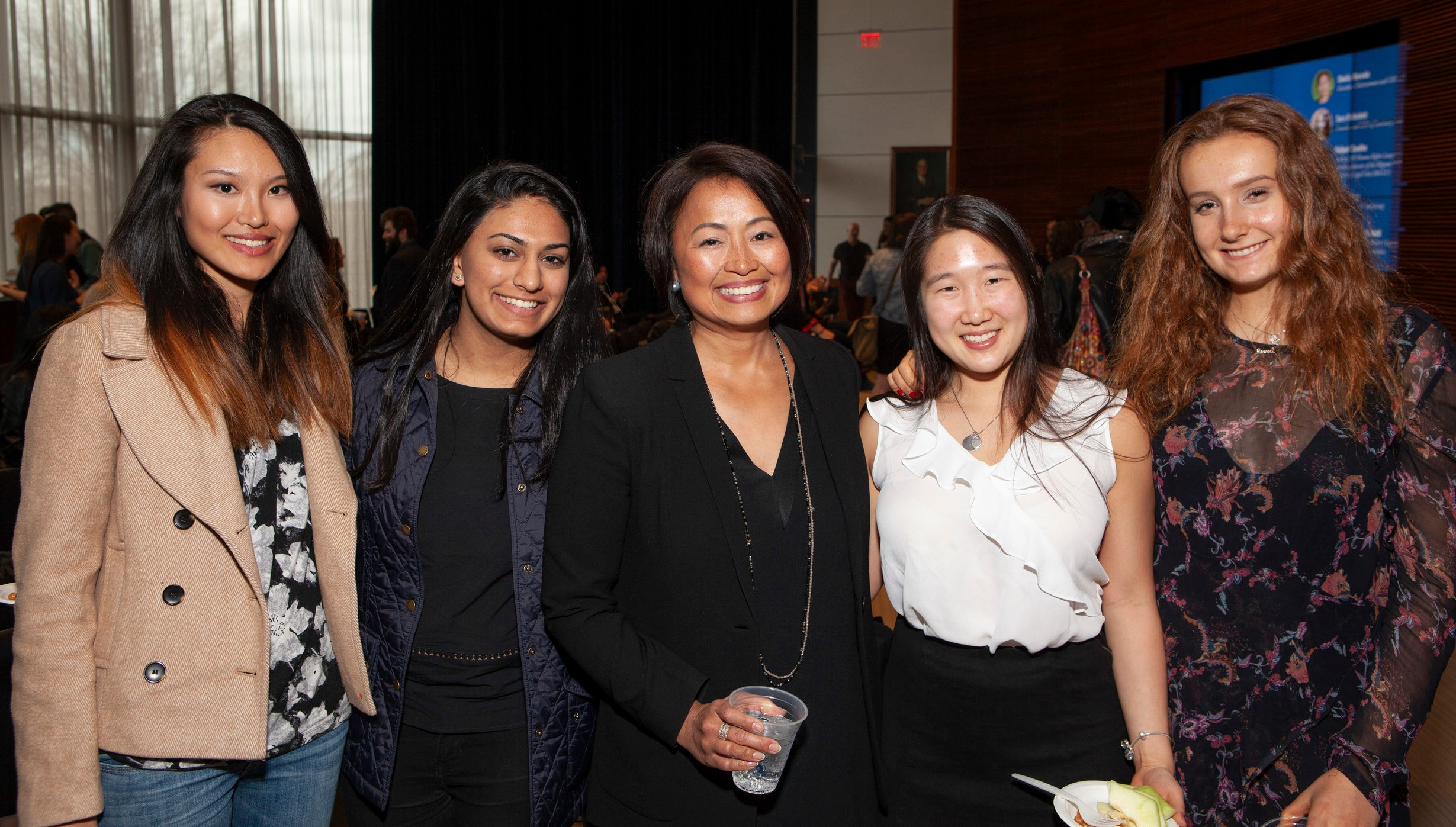 Sheila Marcelo and students at the 2018 WE@Yale Summit.