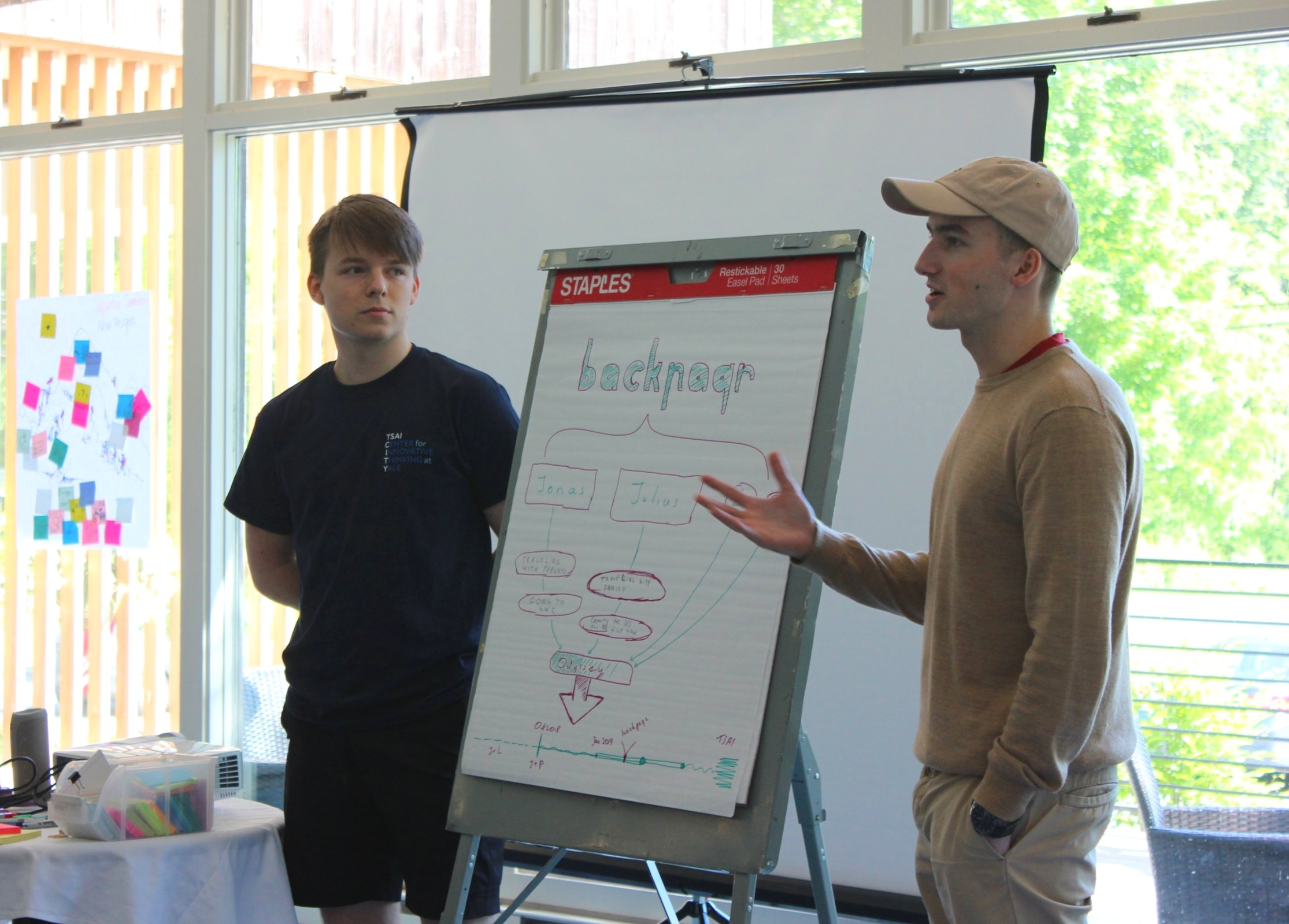 Kavaliauskas and Nedzinskas share their venture's journey at the kickoff retreat.
