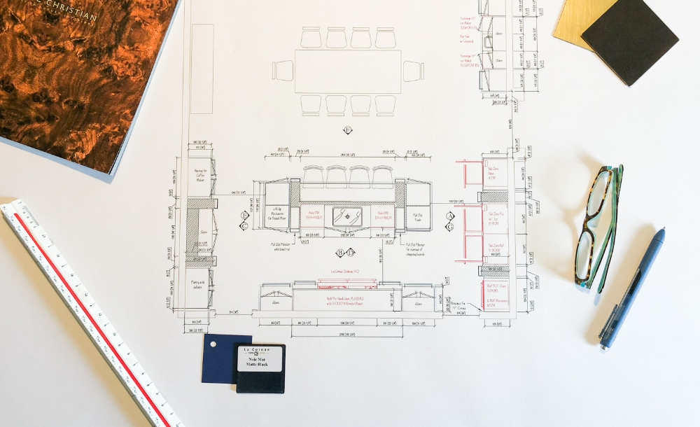 A professional kitchen designer will provide a functional layout that works for your specific needs as a family and then marry it with great design. Don't make the mistake of hiring your kitchen designer too late or you'll be backing yourself into a corner with your layout.