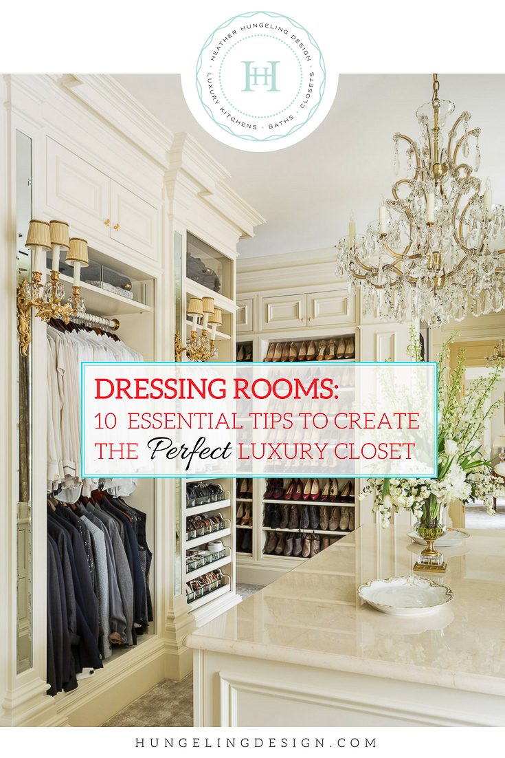 I love designing kitchens, but if there is one thing that I love even more, it is being able to create an amazing luxury closet for a client. A luxury closet doesn't necessarily need to be huge. Rather, it's about adhering to certain design principles and creating useful features. So whether you have a large space or a smaller walk-in closet, I think you'll benefit from some of my tips on putting the   luxe   in luxury closets. #luxurycloset, #closetdesign