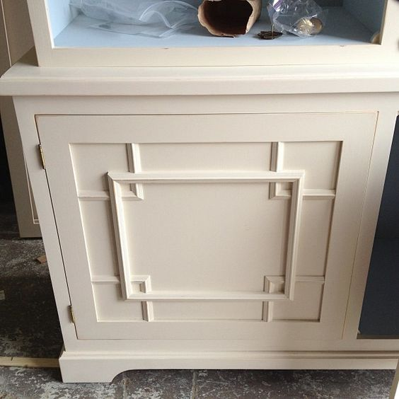 A work in progress shot by Amy Meier Design, but with very pretty panel moldings on the cabinetry. Discover other ways you can use unique cabinetry door styles to infuse needed character into your kitchen.