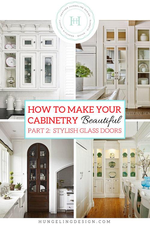 With Glass Cabinet Doors, Glass Kitchen Cabinet Doors