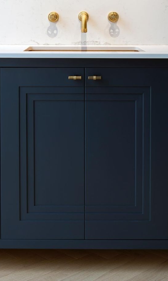 A triple recessed cabinet door panel looks very fresh. The width of the doors, rails, and stiles should be generous to pull off this chunkier look. Discover other ways to add unique details and interesting cabinet door styles to your next kitchen.