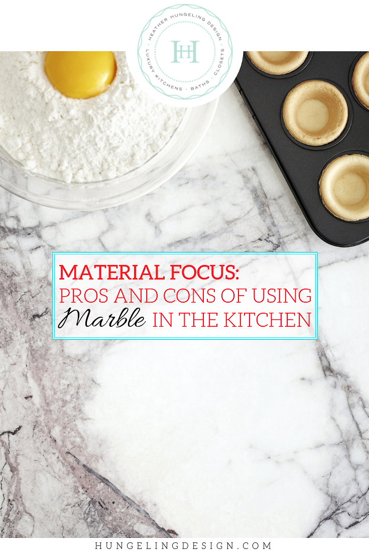 "Have you fallen in love with marble countertops in the kitchen, but not sure it's a good idea? Learn why it's really all about ""ETCHING,"" and then follow my design tips to make sure that you are happy with your decision for many years to come."