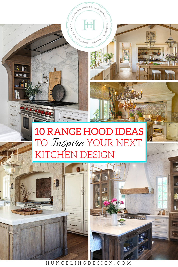 When I design a kitchen, I usually begin by trying to think of an amazing and unique range hood idea that will really give the kitchen its own distinct character. I have put together this list of ten stunning range hood designs that you can literally build a whole kitchen around. From rustic to chateau and farmhouse to minimalist, these ideas will inspire just about anyone to reimagine their kitchen.