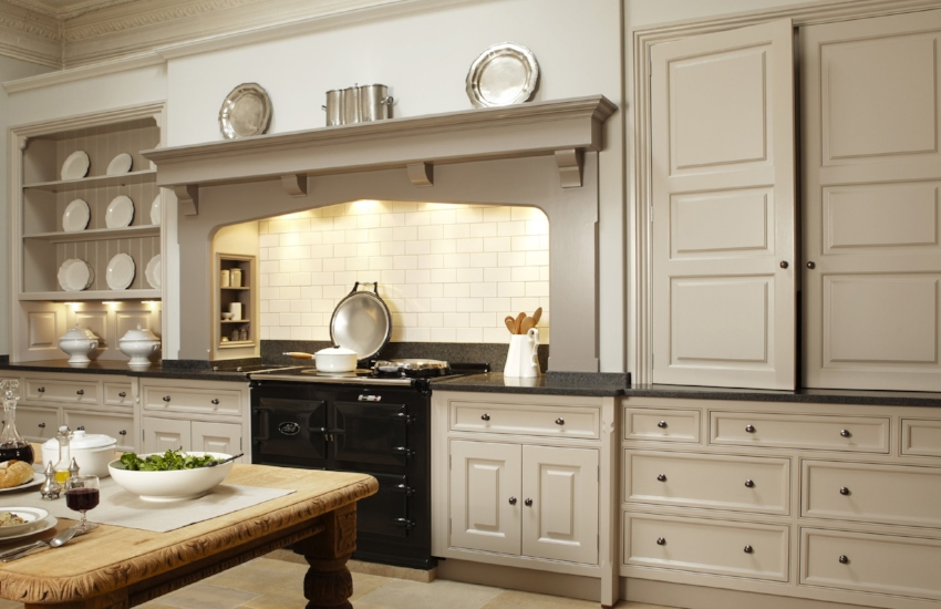 This Classic Kitchen by cabinet maker, Martin Moore, is a very accurate representation of that coveted English kitchen look.
