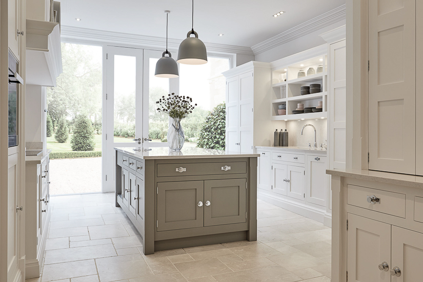 In the U.K. renovated kitchens in older houses are often located in ancillary or converted parts of the home. As such, getting sunlight into the room can be a challenge. By creating floor to ceiling windows and french doors, a renovated English kitchen can still get maximum light and connectivity to the adjacent garden.