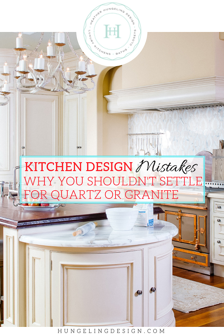 One of the saddest things for me to see is a great kitchen being ruined by a poor countertop choice. Most often, those bad choices are made because people don't know that there are better options available. You don't need to settle for a speckly granite, or a fake-looking quartz countertop to get the durability and practicality that you desire.  #kitchencountertops, #quartzcountertops, #marblecountertops #luxurykitchendesigns #traditionalkitchens