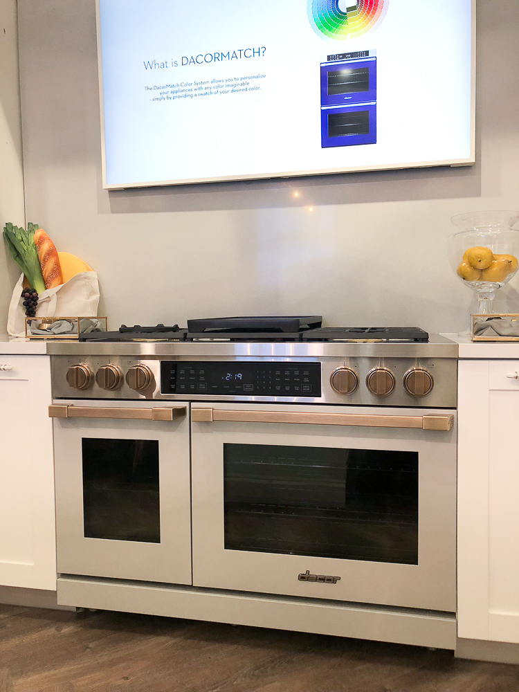 Color was a dominant trend among new kitchen products at the KBIS 2019 show, but Dacor surpassed them all by offering DACORMATCH, a program that will customize your range or wall oven to any color that you like. You just need to submit a sample for color matching.