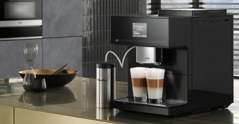 Miele's new kitchen product introduction for KBIS 2019 was a range of countertop coffee makers that offer the same grinding and brewing system as their popular built-in models.