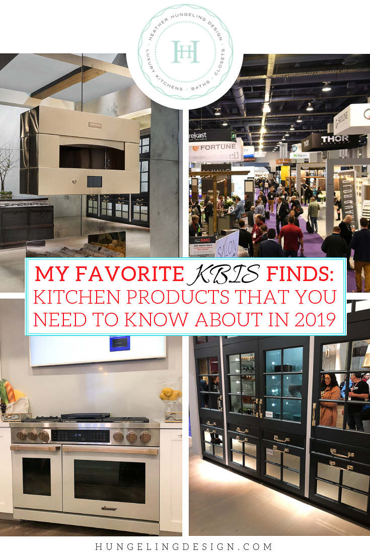 If you're building a new home or remodeling a kitchen this year, these are the new kitchen products that you need to know about. Although the KBIS 2019 show was 3 convention halls full of awesome finds, these are the ones that literally stopped me in my tracks. #kitchendesign #luxurykitchendesigner #luxurykitchens