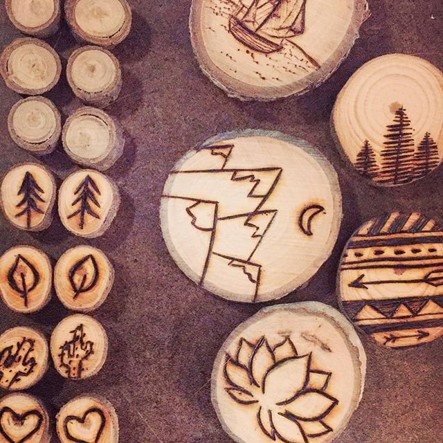 I've spent the first half of this week making new pretty things, and I'm planning a giant shop update to go live within the next week, so be sure to check back!! . . . . . #ladydryad #handmade #woodslice #woodburning #woodwork #woodcraft #pyrography #mountain #moon #travel #adventure #backpacker #lotus #yoga #trees #nature #wildchild #dametraveler #explore #sheexplores #shoplocal #smallbusiness #sandiego #california #oceanbeach #bohemian #bohochic #bohostyle #hippie #hippiestyle