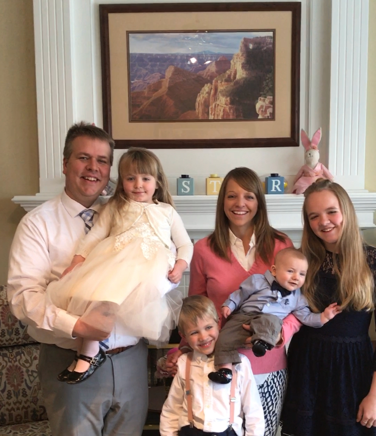 Pastor Drew and Melinda with their 4 children.