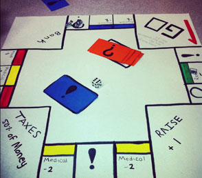 """""""Fast Food Monopoly"""" board game"""