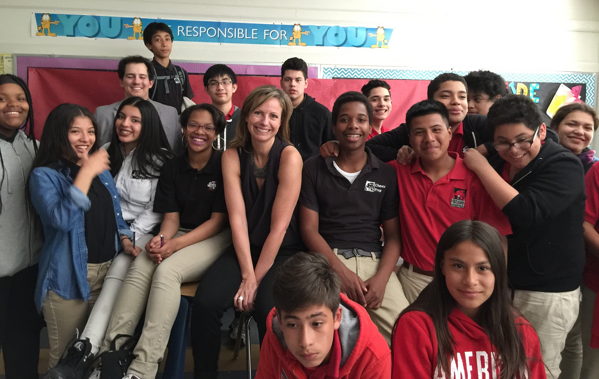 Michelle Shephard and students. Click photo to see full album.