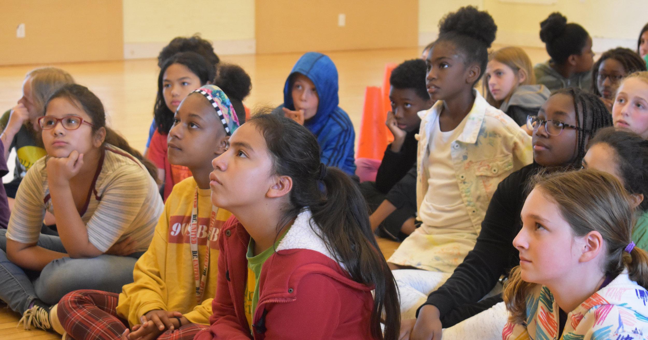 Film director Katherine DuBois visits Mundo Verde Bilingual PCS.  See more photos.