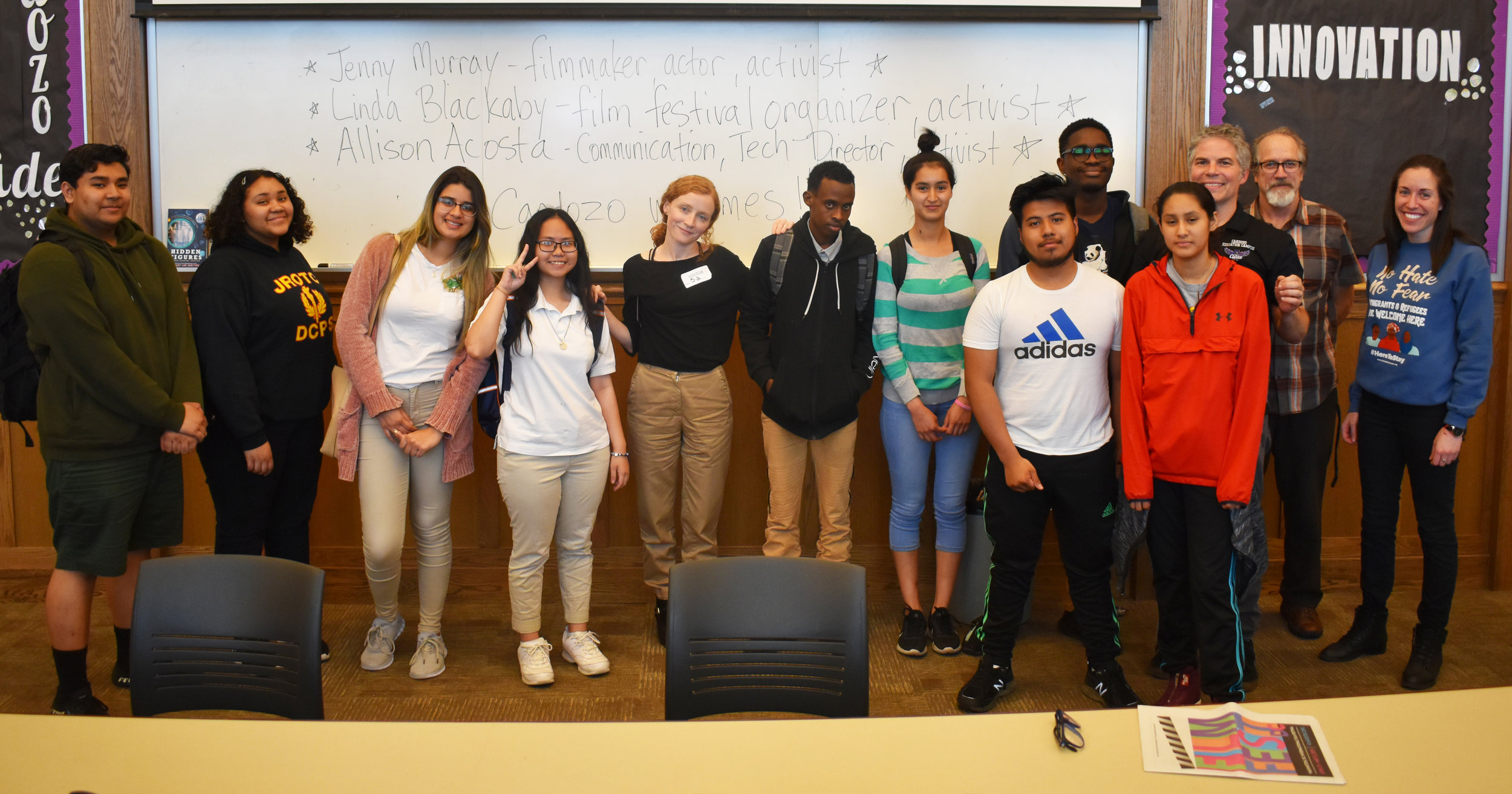 Filmmaker Jenny Murray visits Cardozo Education Campus (DCPS).  See more photos .