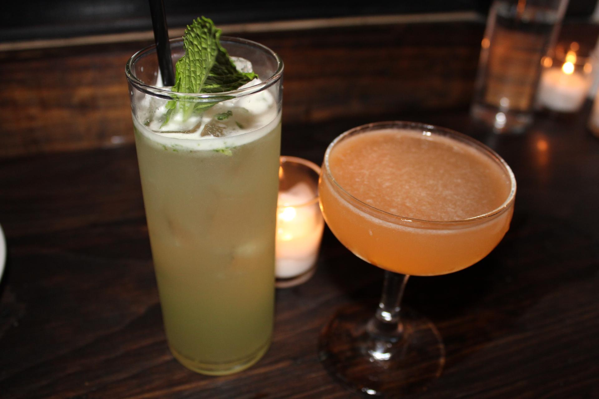 Ginger Mint Lemonade and Sidecar