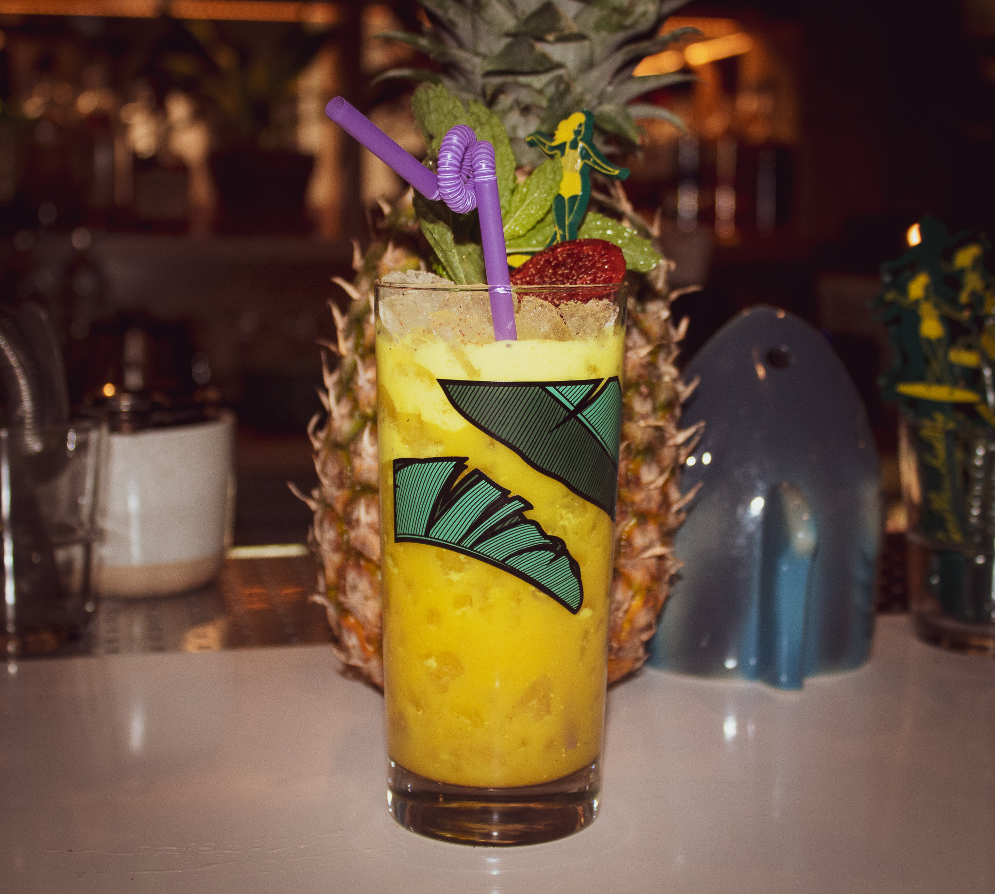 YELLOWBELLY - puerto rican & jamaican rum, coconut, turmeric, ginger falernum, pineapple and lime juice