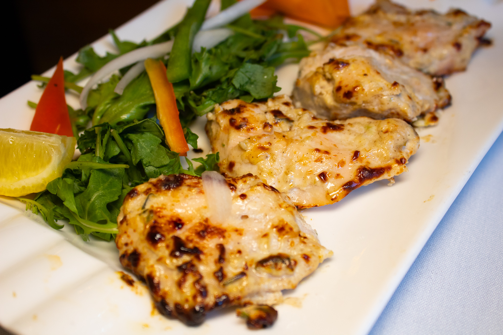 CHICKEN MALAI KABAB - creamy grilled cubes
