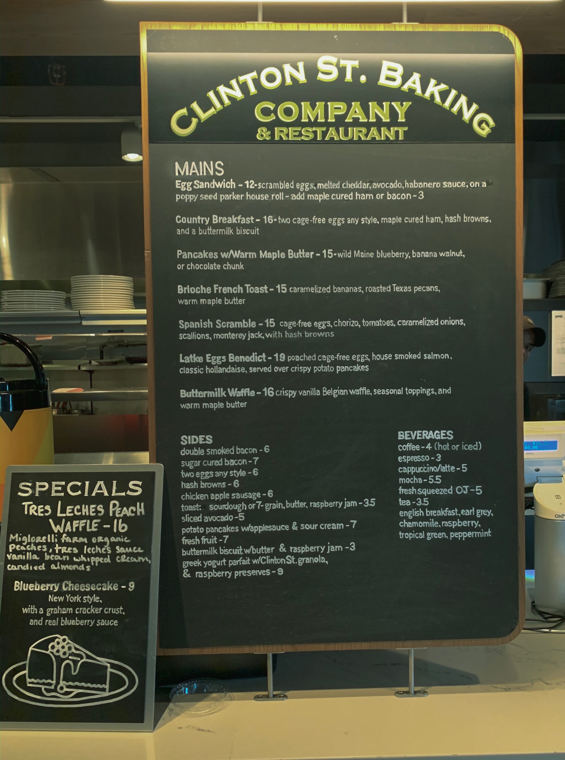 Menu for Clinton St. Baking Co.