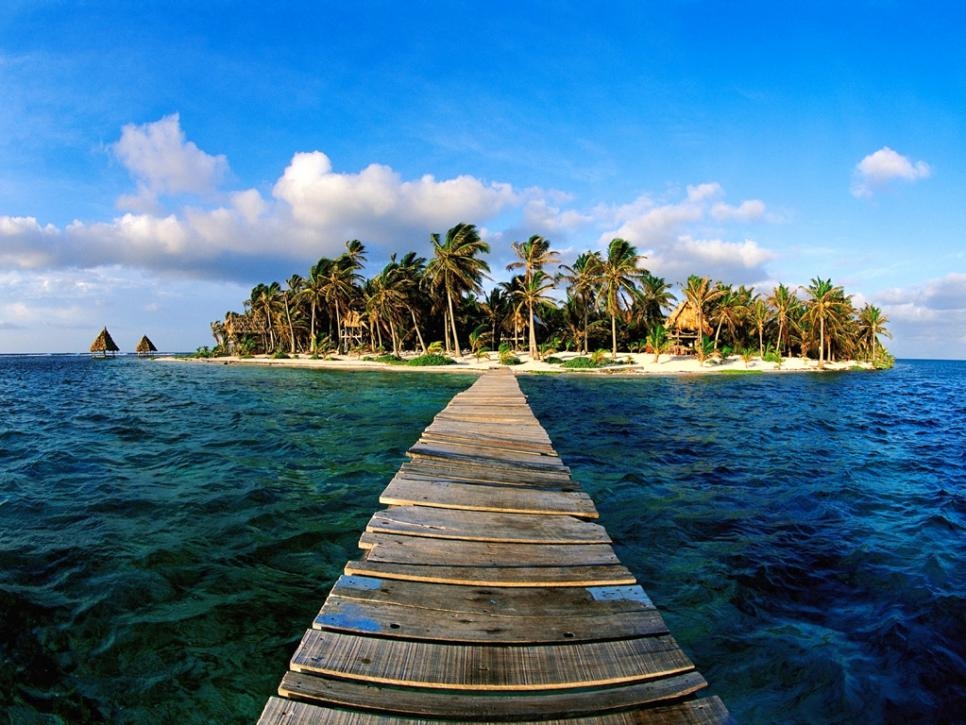 4. Ambergris Caye, Belize - Ambergris Caye is the largest island in Belize, with the Belize Barrier Reef waiting to be discovered right off the eastern shore.Book your trip and snorkel the second longest barrier reef in the world, and the longest in the Western Hemisphere. Time is of the essence with this vacation, (unless Leo DiCaprio manages to save the oceans by next summer), so book your trip now.