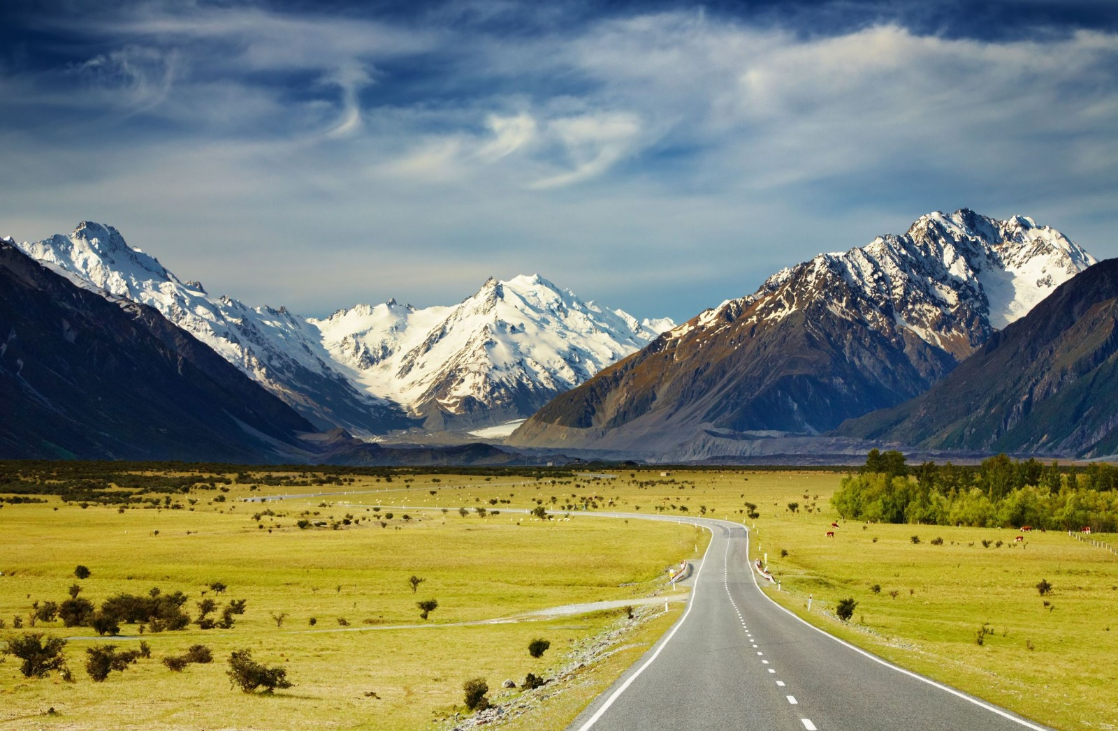 5. Fiordland,New Zealand - Go on a road trip through New Zealand's Fiordland National Park to treat yourself to one of the most spectacular vistas on the planet (see left).The snow-capped mountain range rivals the Tetons (the teenagers of the American Rockies), and the dramatic, jagged peaks are reminiscent of another destination on our list, locale #7 to be exact.