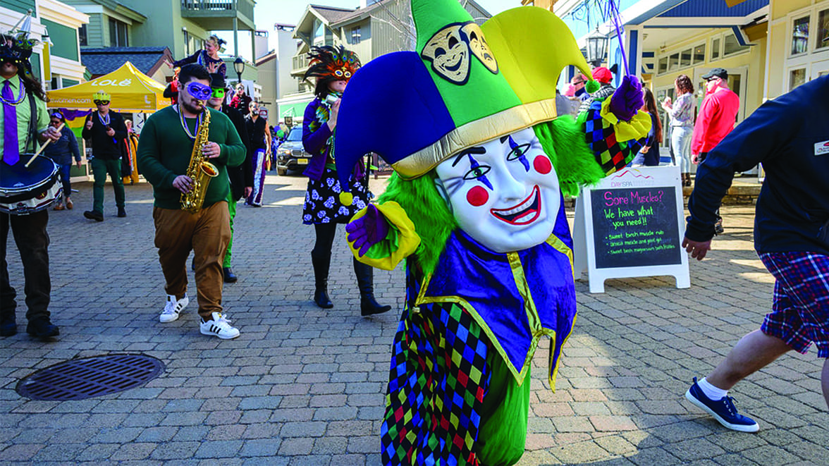 Marchdi Gras - Where: Stratton, VermontWhen: March 31What: So you love to ski, you love to drink, and you love crawfish? We have the party for you: Marchdi Gras up at Stratton Mountain. Head north to reenact the dirty south.