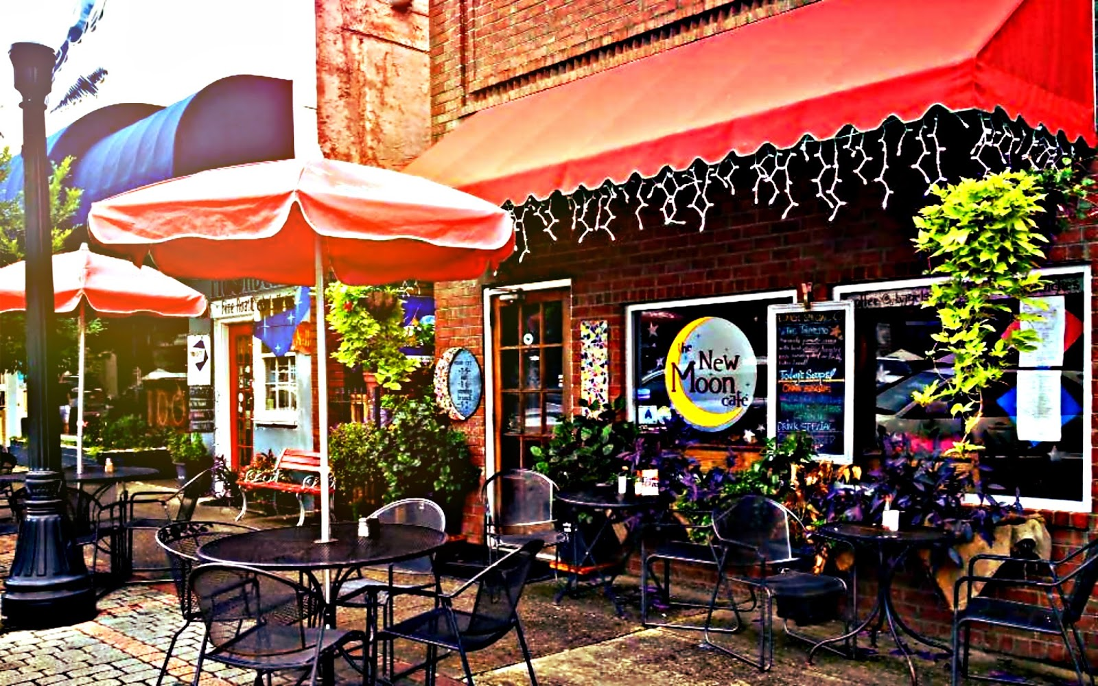 Get Your Fix - New Moon Cafe116 Laurens St NW, Aiken, SC 29801Simply the spot to go for breakfast in Aiken. Sit outside under an umbrella and spend your morning people watching (and downing an egg scrambler bowl).