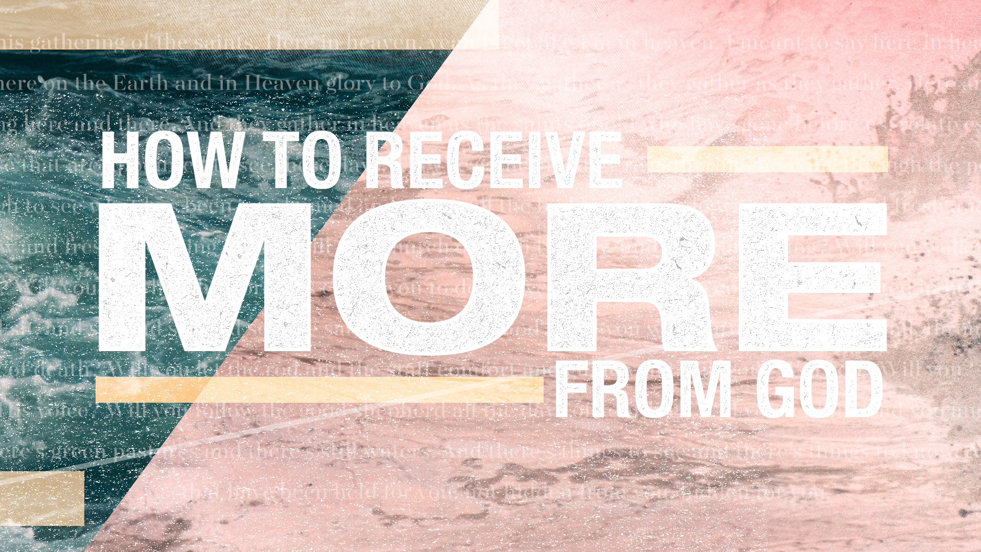 How to Receive More From God
