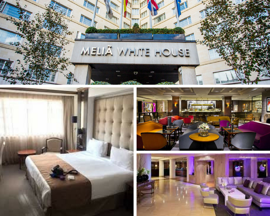 Melia White house london - The MeliáWhite House Hotelwas built in 1936 and was originally launched as The White House luxury apartments. The hotel's building still preserves its architectural value as a prime example of late 1930s architecture. An eclectic style where contemporary design meets classic.This 4-star deluxe hotel has 581 rooms, 112 apartments, 9 meeting rooms, 2 restaurants and a bar with a terrace; a fitness centre and an executive lounge.The hotel's unique location, award- winning food offering and true passion for service will make your stay in London a pleasant and unique experience.Includes wi-fi and complimentary breakfast.