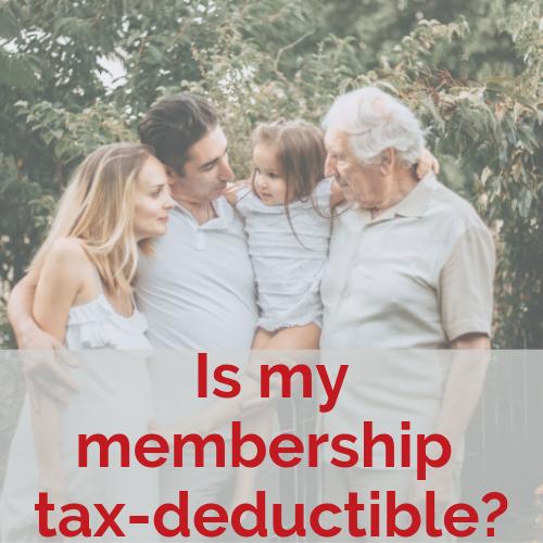 Is my membership tax-deductible?