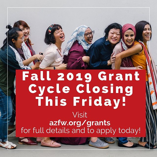 There's still time to apply for our Fall grant cycle! Applications are due this Friday, August 30th at 5:00pm. Full details and criteria can be found on our website.