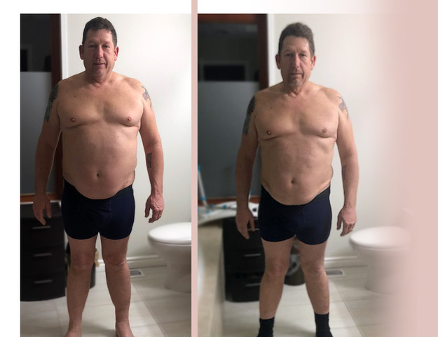 before + after juice cleanse results