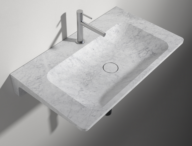 Farrah & Pearce - Frassk - Basin Visualisation Carrara Marble Overhead