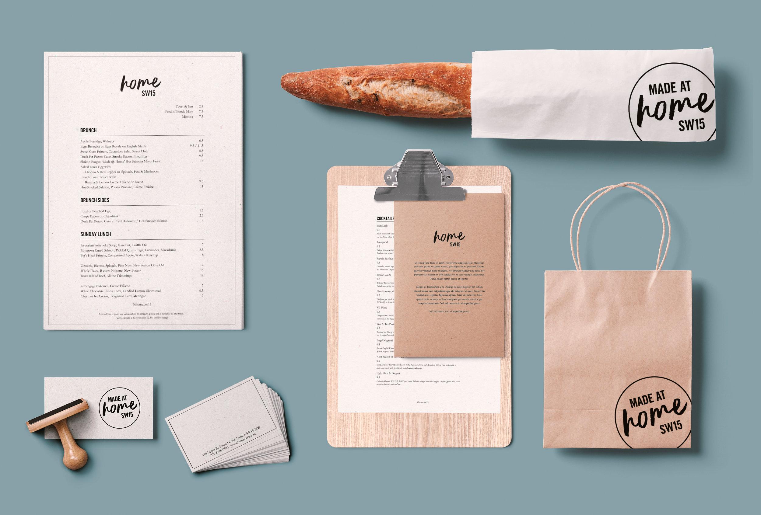 Farrah & Pearce Home SW15 restaurant stationary and packaging.jpg