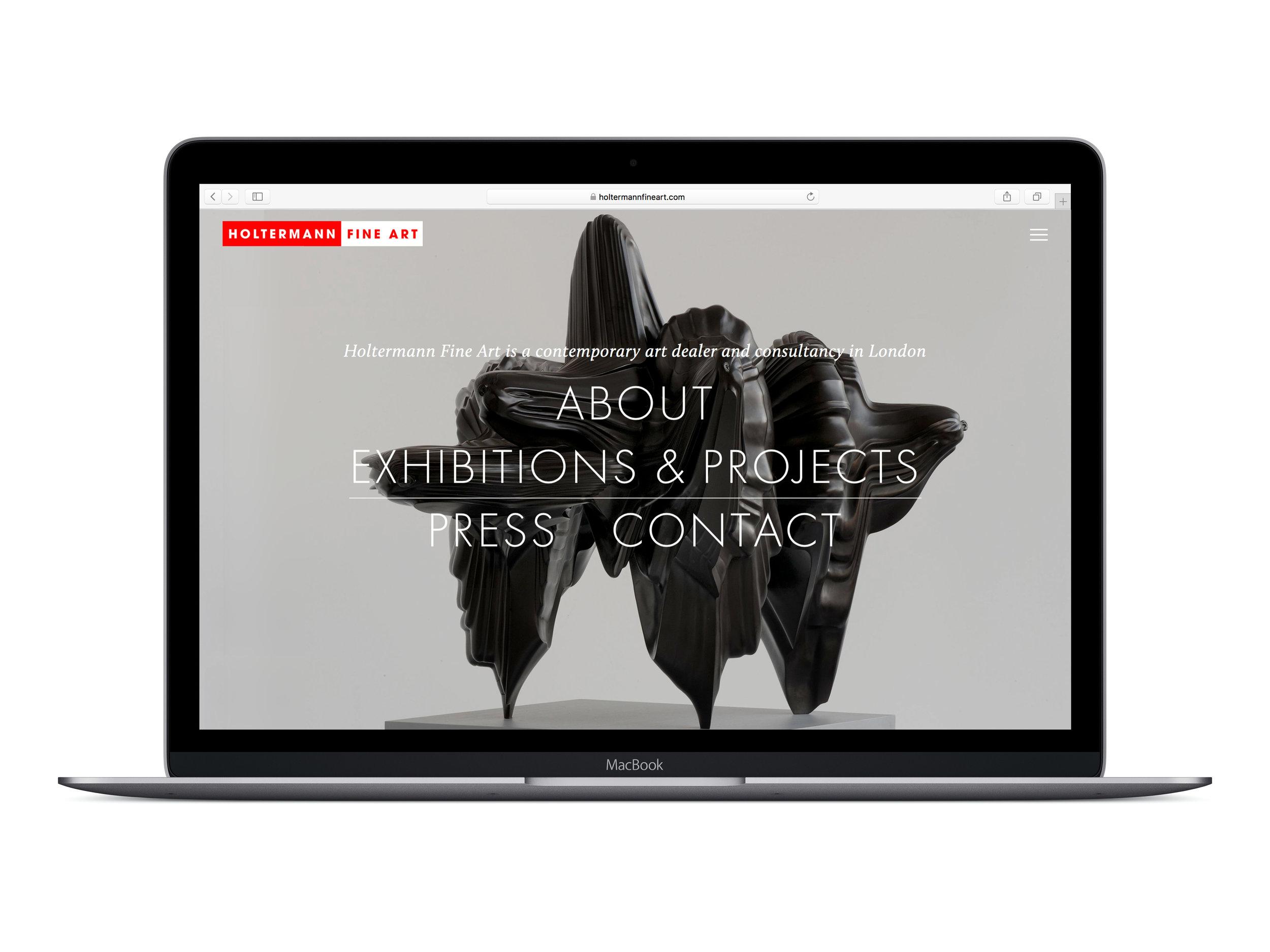 Farrah & Pearce - Holtermann Fine Art Website - Desktop